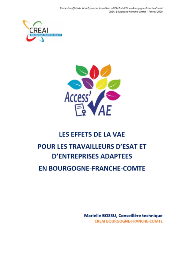 rapport etude effets vae 2019 cover - Accueil