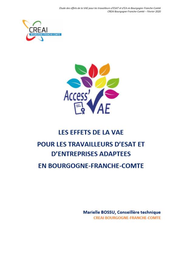 rapport etude effets vae 2019 cover - Actualités